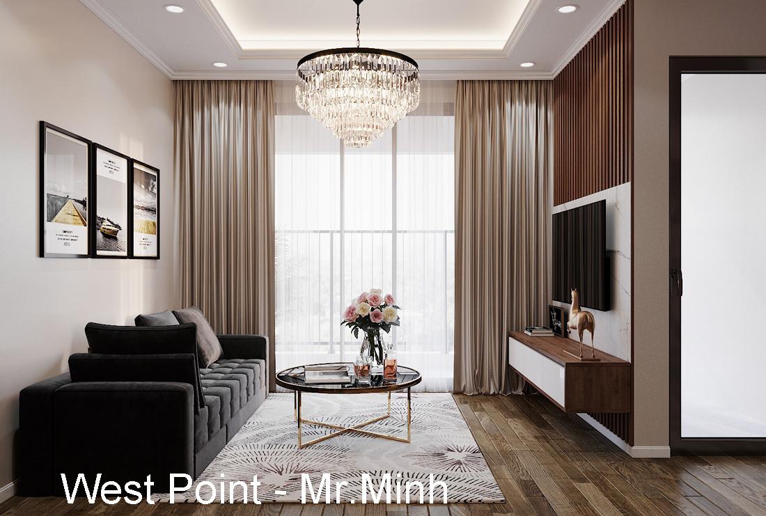 Thiết kế nội thất căn hộ 2 ngủ tại Vinhomes West Point