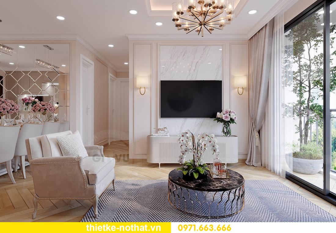 thiết kế nội thất chung cư Smart City căn hộ 3 phòng ngủ đẹp 05