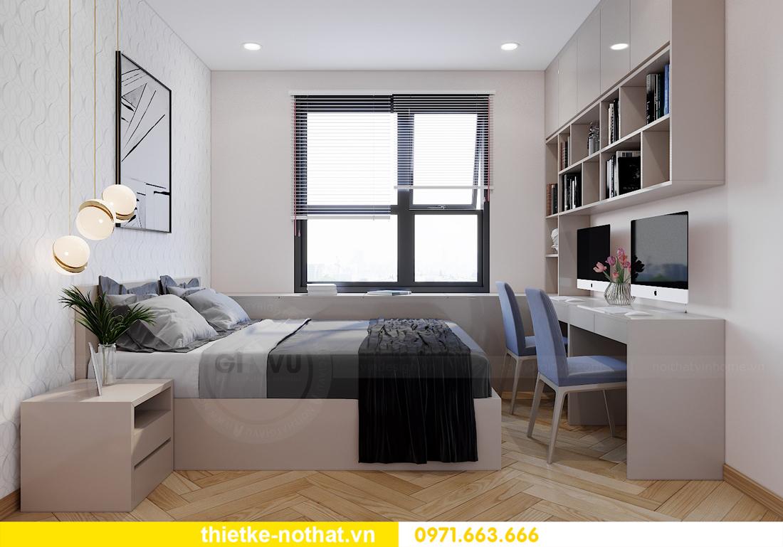 thiết kế nội thất chung cư Smart City căn hộ 3 phòng ngủ đẹp 09