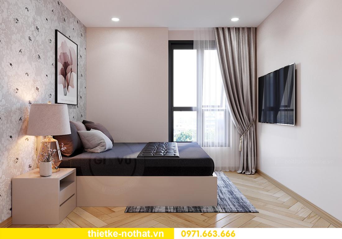 thiết kế nội thất chung cư Smart City căn hộ 3 phòng ngủ đẹp 12