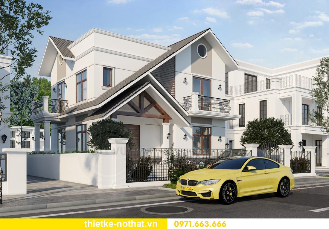 thiết kế kiến trúc ngoại thất biệt thự hiện đại 4