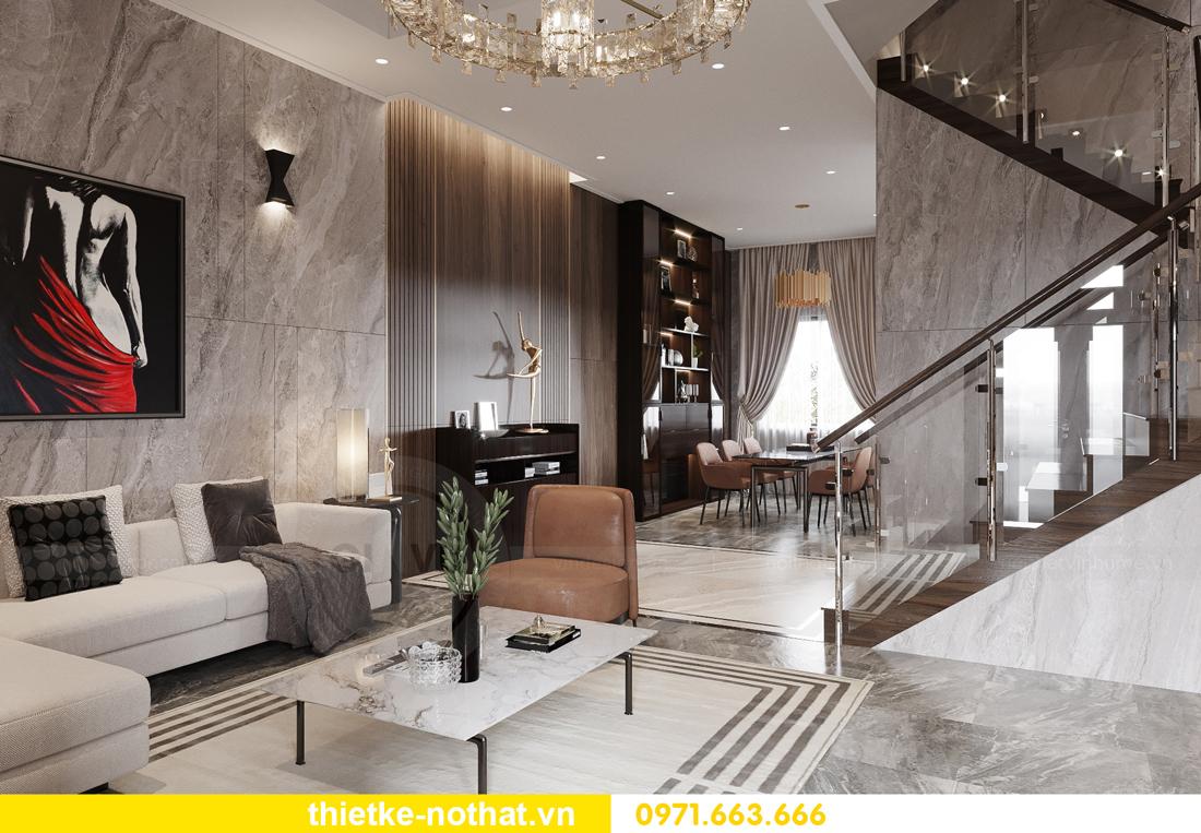 thiết kế nội thất biệt thự đẹp tại Vinhomes OCean Park 1