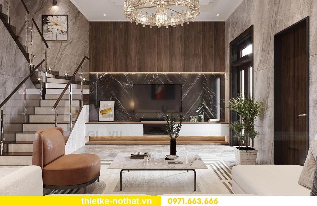 thiết kế nội thất biệt thự đẹp tại Vinhomes OCean Park 3