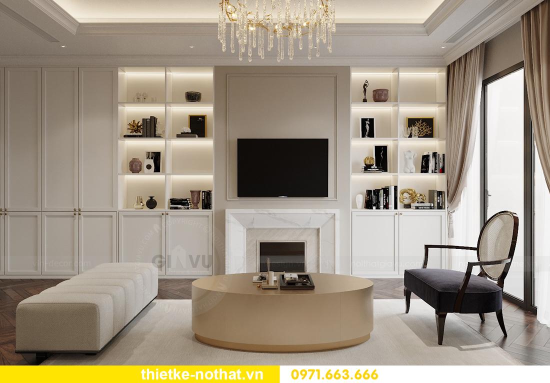 thiết kế nội thất căn hộ 100m2 3 phòng ngủ nhà chị Nga 2