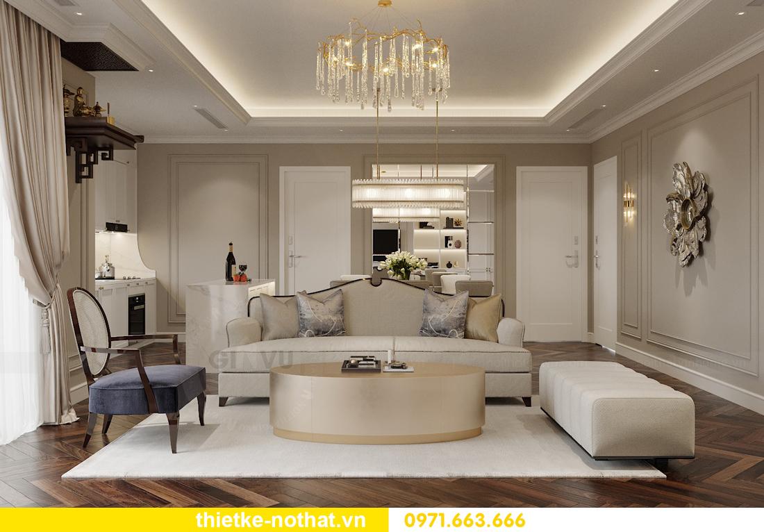thiết kế nội thất căn hộ 100m2 3 phòng ngủ nhà chị Nga 3