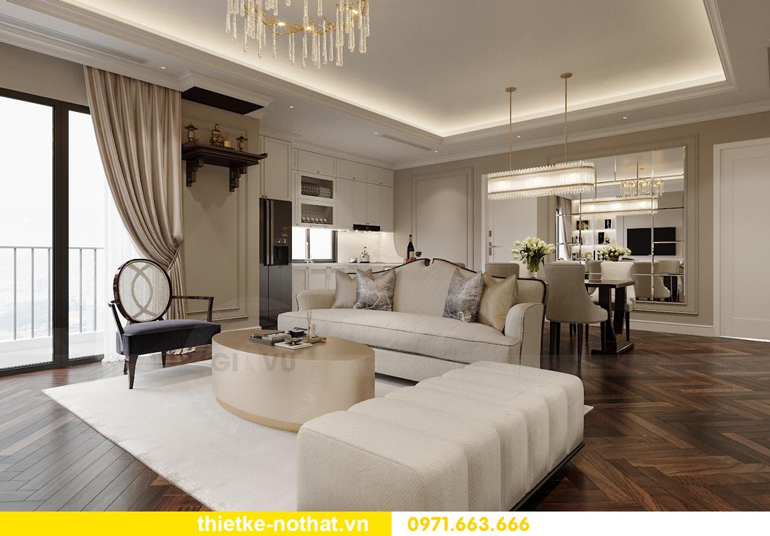 thiết kế nội thất căn hộ 100m2 3 phòng ngủ nhà chị Nga 4