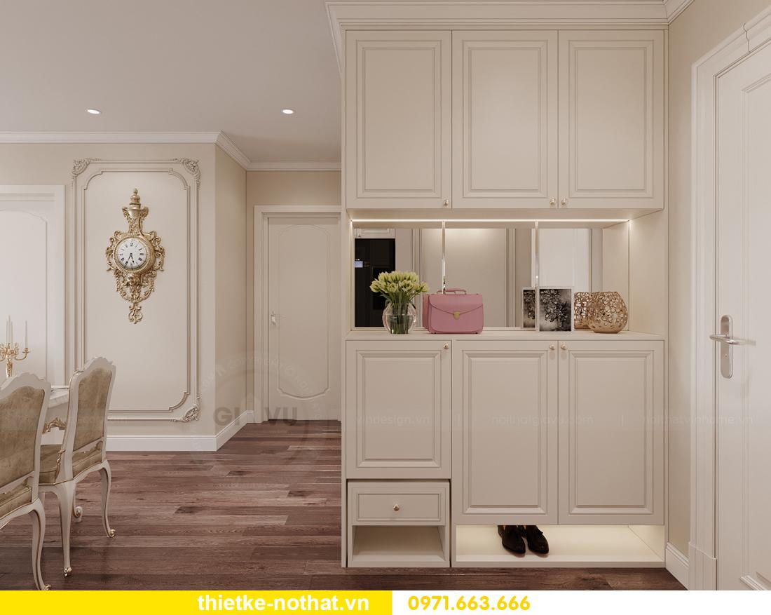 thiết kế nội thất chung cư tân cổ điển tại Vinhomes Green Bay 1