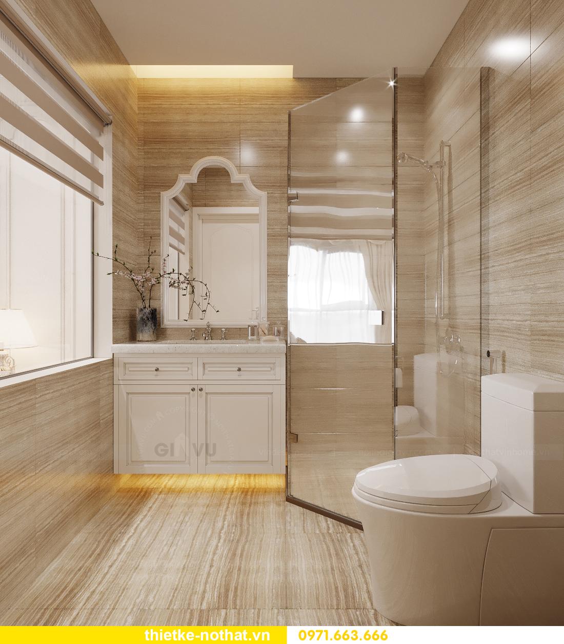 thiết kế nội thất chung cư tân cổ điển tại Vinhomes Green Bay 10