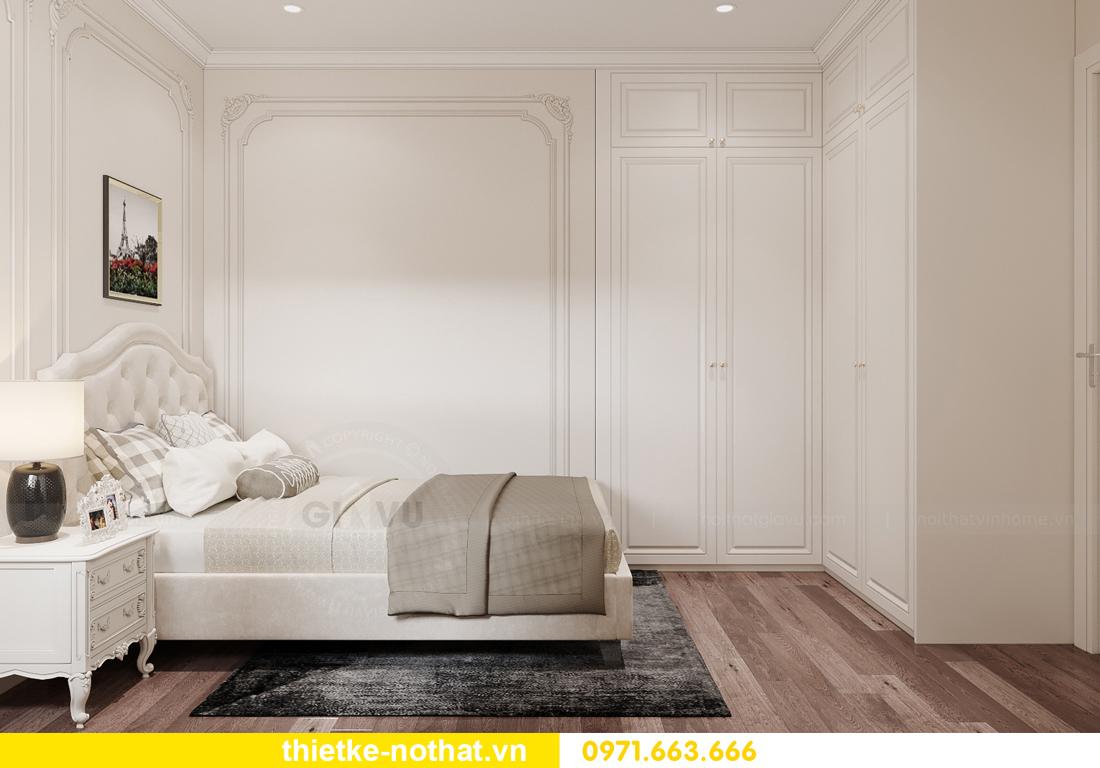 thiết kế nội thất chung cư tân cổ điển tại Vinhomes Green Bay 12