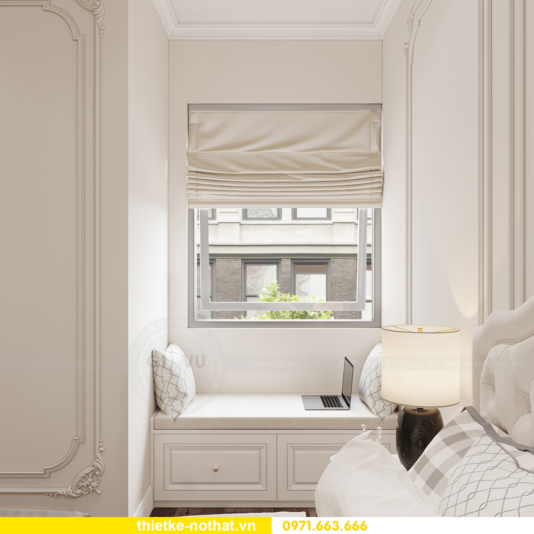 thiết kế nội thất chung cư tân cổ điển tại Vinhomes Green Bay 14