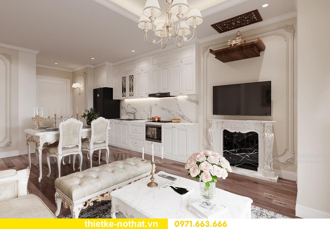 thiết kế nội thất chung cư tân cổ điển tại Vinhomes Green Bay 2