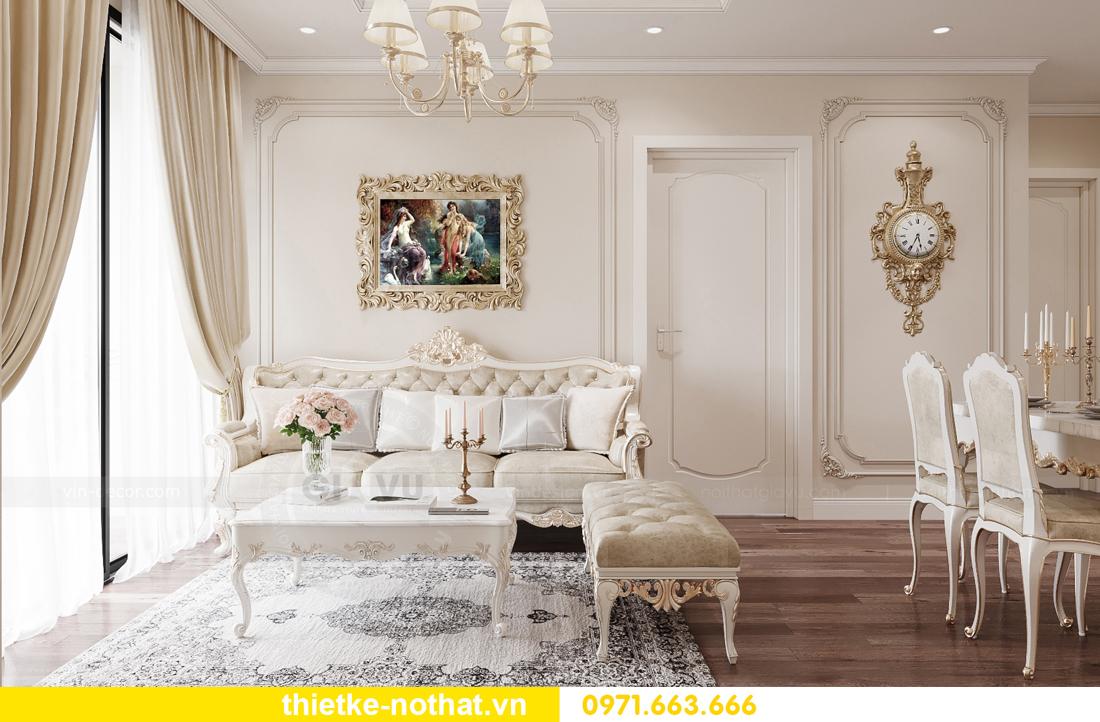 thiết kế nội thất chung cư tân cổ điển tại Vinhomes Green Bay 3