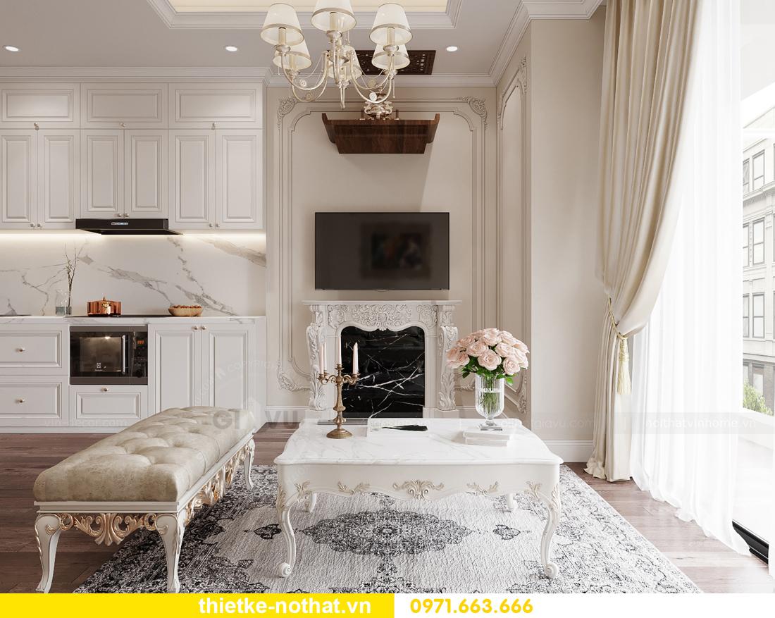 thiết kế nội thất chung cư tân cổ điển tại Vinhomes Green Bay 4
