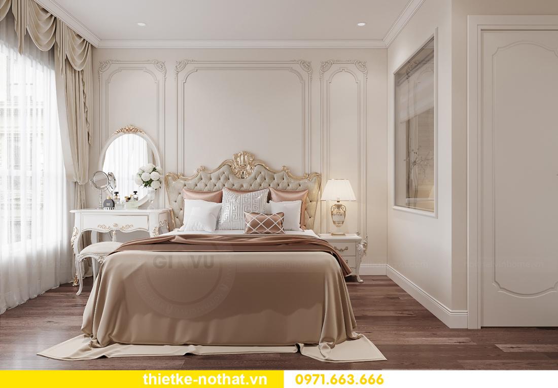 thiết kế nội thất chung cư tân cổ điển tại Vinhomes Green Bay 7