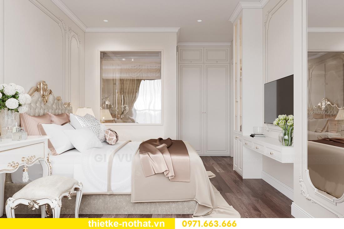thiết kế nội thất chung cư tân cổ điển tại Vinhomes Green Bay 8