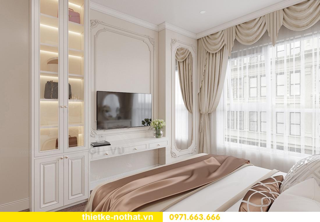 thiết kế nội thất chung cư tân cổ điển tại Vinhomes Green Bay 9