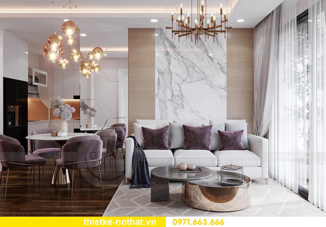 thiết kế nội thất chung cư Vinhomes West Point W1 căn 02 3