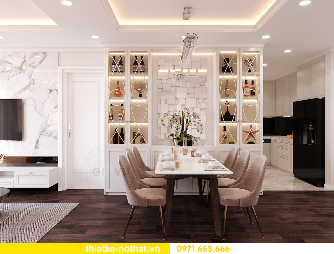 thiết kế nội thất siêu đẹp tại chung cư Sunshine Garden 2