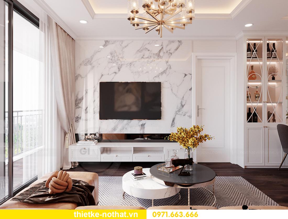 thiết kế nội thất siêu đẹp tại chung cư Sunshine Garden 5