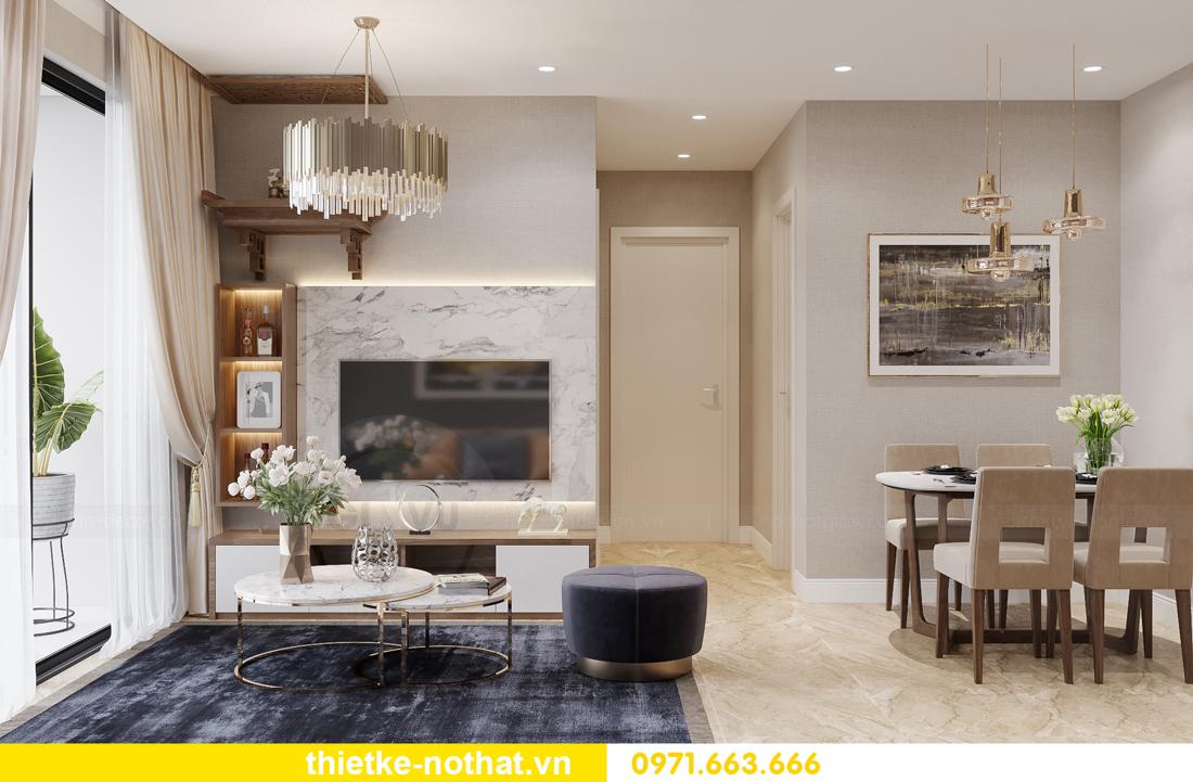 thi công hoàn thiện nội thất Vinhomes Smart City căn 2 ngủ 2