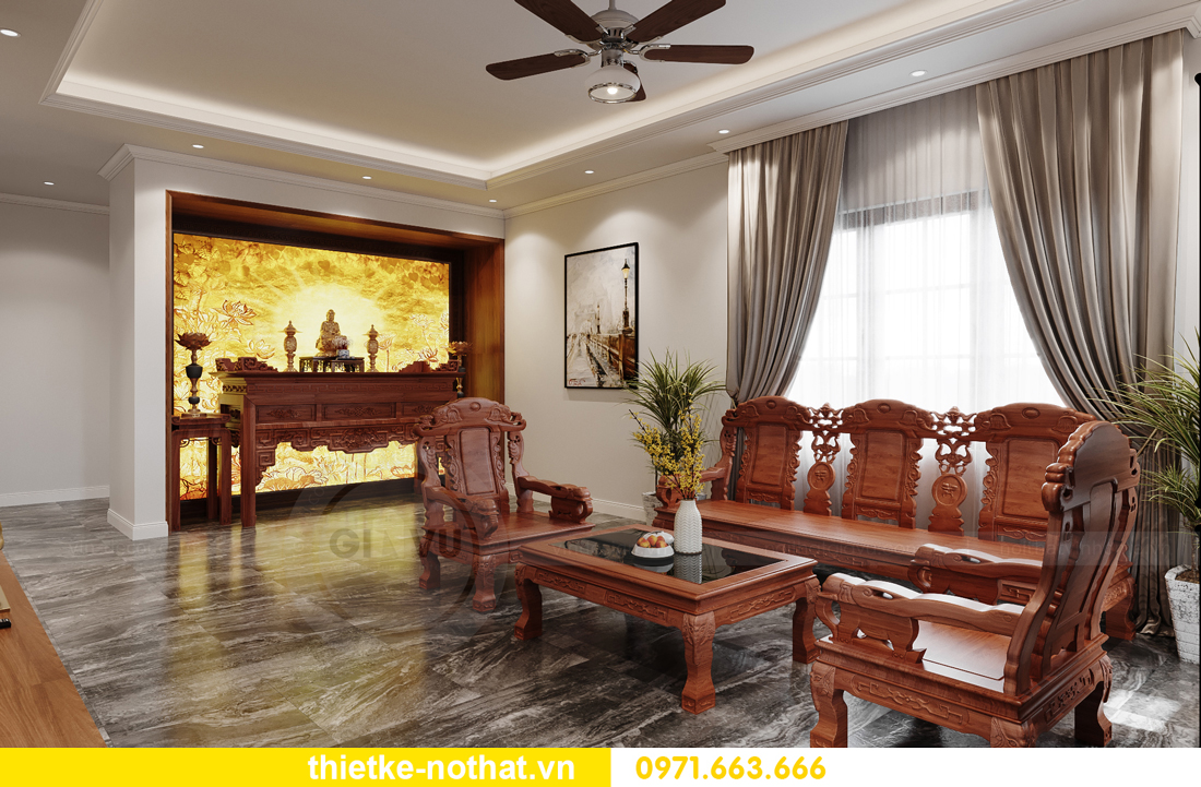 thiết kế nội thất nhà phố tại Hà Nội nhà chị Linh 1