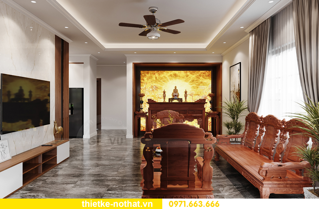 thiết kế nội thất nhà phố tại Hà Nội nhà chị Linh 2