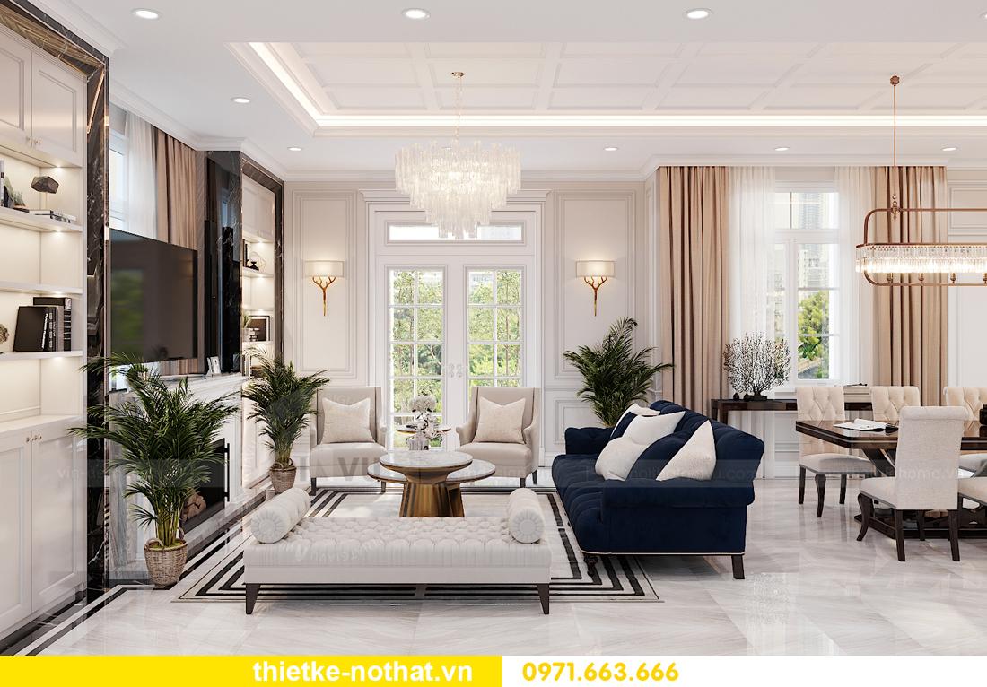 thiết kế nội thất biệt thự Vinhomes OCean Park khu Ngọc Trai 2