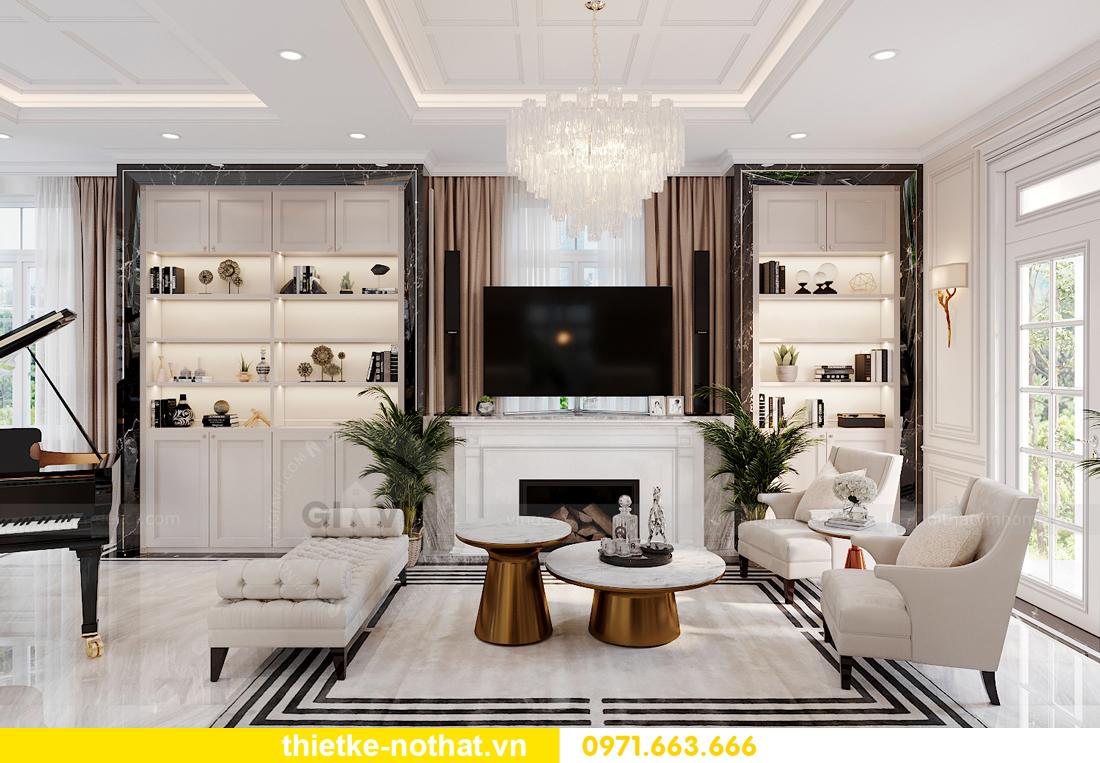 thiết kế nội thất biệt thự Vinhomes OCean Park khu Ngọc Trai 3