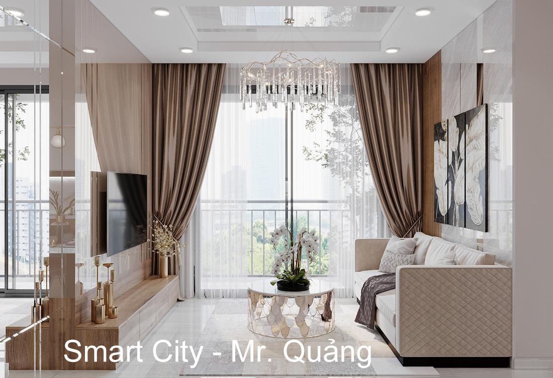 Thiết Kế Nội Thất Căn Hộ Chung Cư Smart City Tòa S2.02 Căn 01