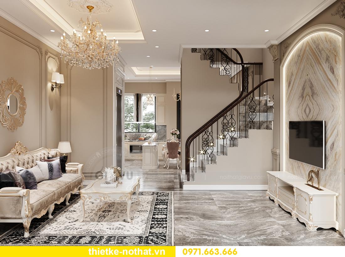 thiết kế nội thất biệt thự OCean Park phong cách tân cổ điển 1