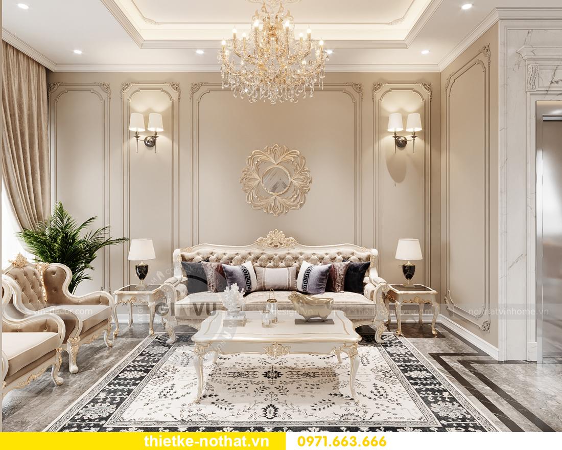 thiết kế nội thất biệt thự OCean Park phong cách tân cổ điển 2