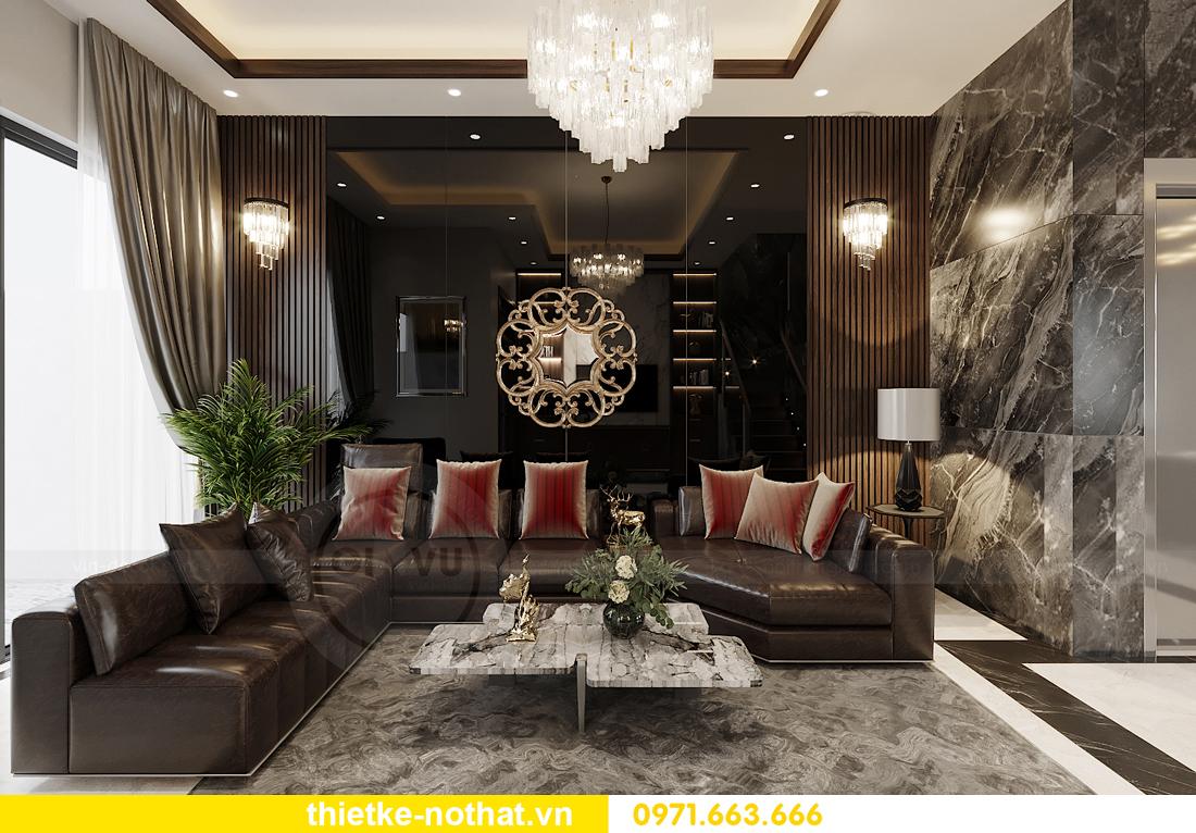 thiết kế nội thất biệt thự tại Vinhomes OCean Park nhà anh Tú 1