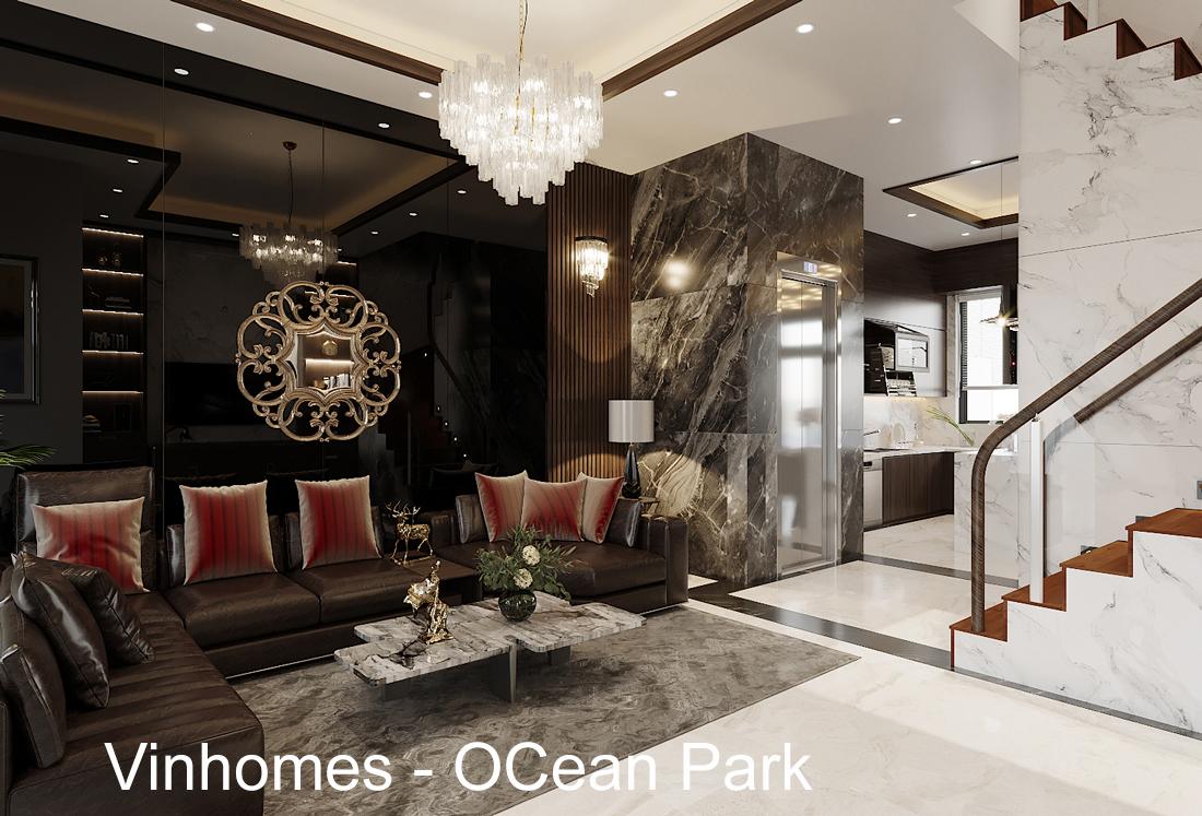 Thiết kế nội thất biệt thự tại Vinhomes OCean Park – anh Tú