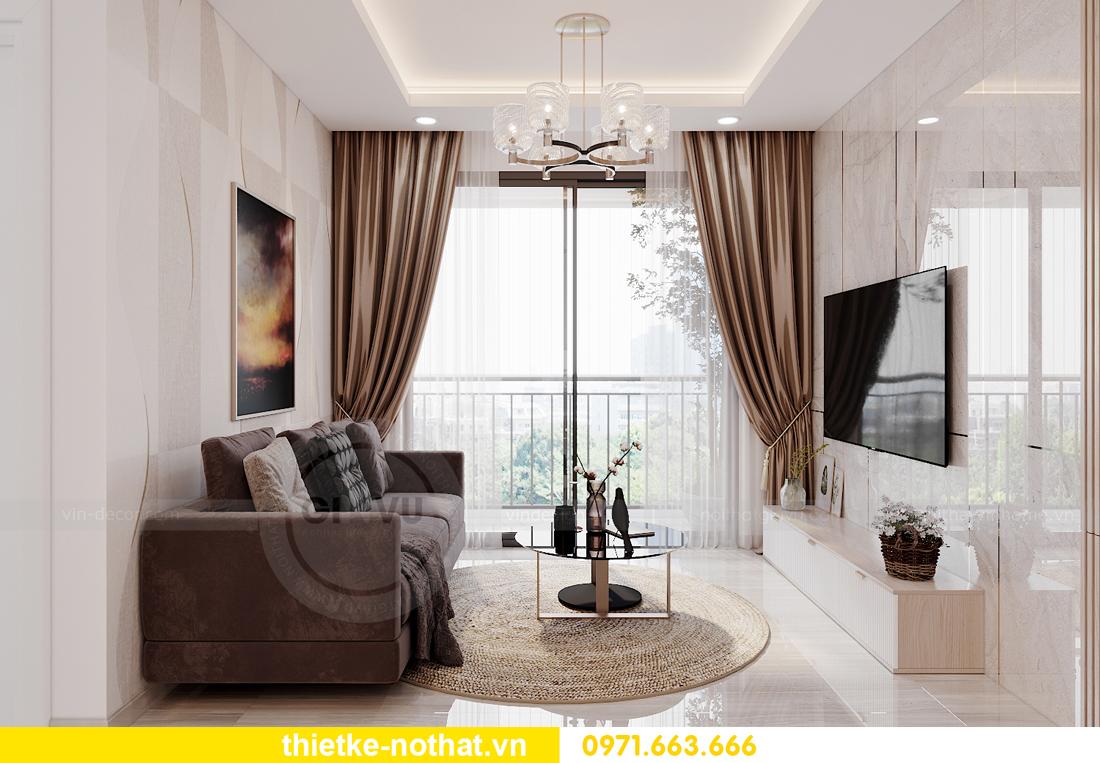 thiết kế nội thất căn hộ 2 phòng ngủ tại Vinhomes Smart City 4