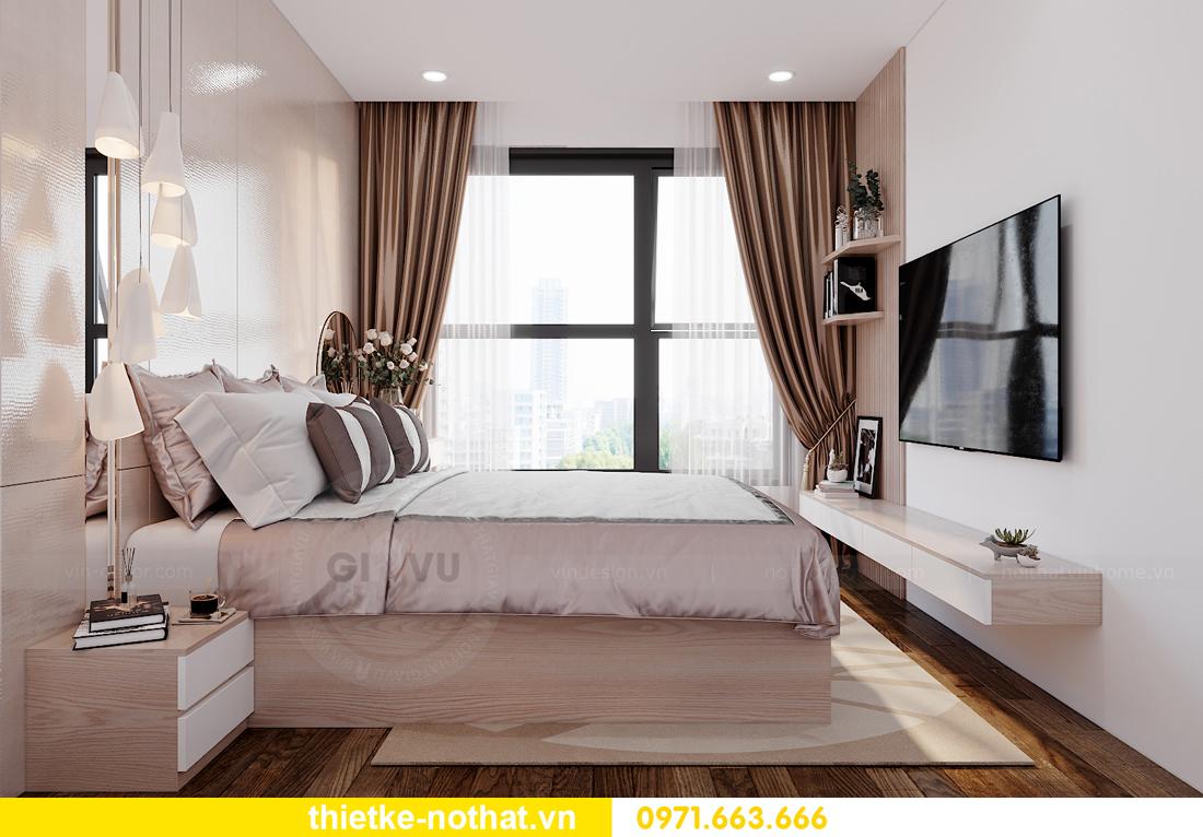 thiết kế nội thất căn hộ 2 phòng ngủ tại Vinhomes Smart City 5