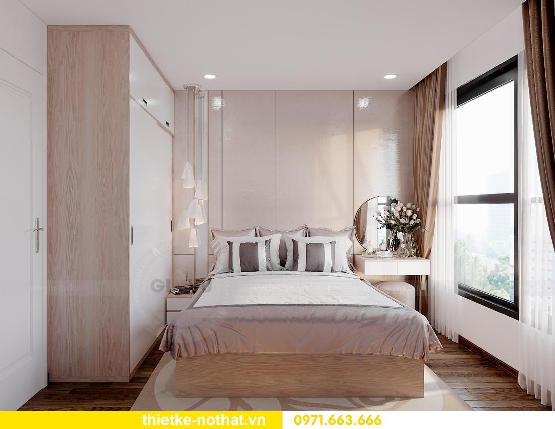 thiết kế nội thất căn hộ 2 phòng ngủ tại Vinhomes Smart City 6