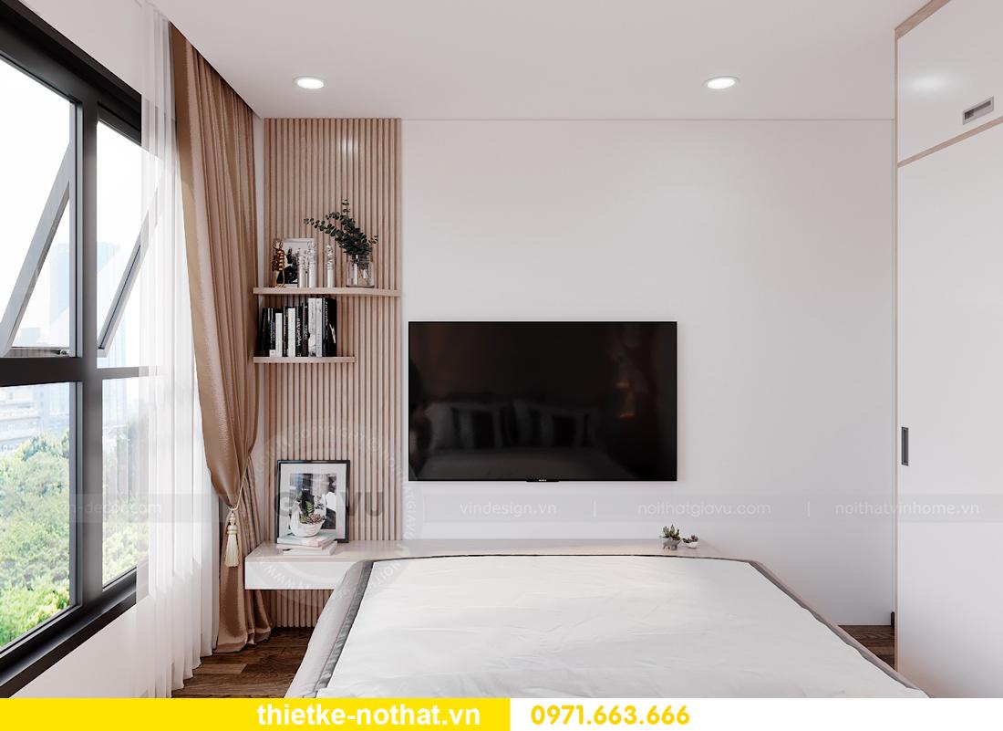thiết kế nội thất căn hộ 2 phòng ngủ tại Vinhomes Smart City 7