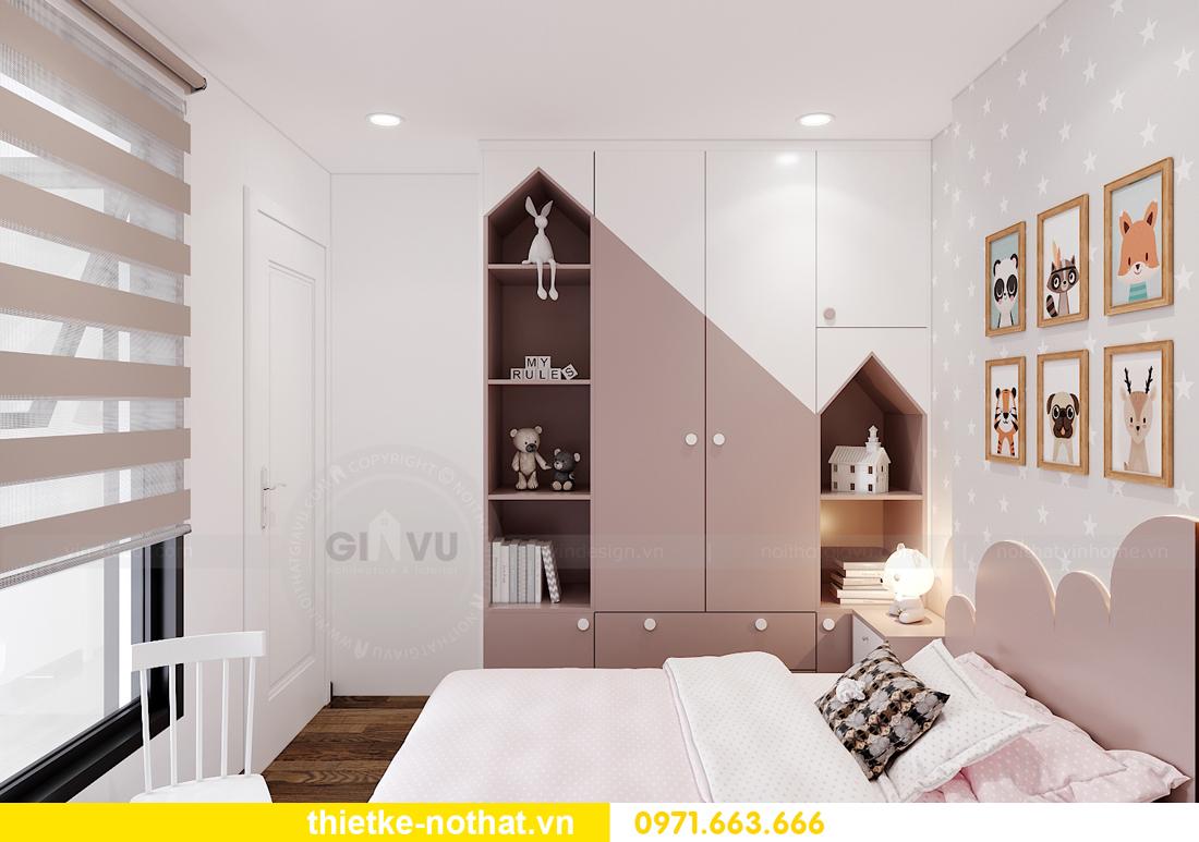 thiết kế nội thất căn hộ 2 phòng ngủ tại Vinhomes Smart City 8