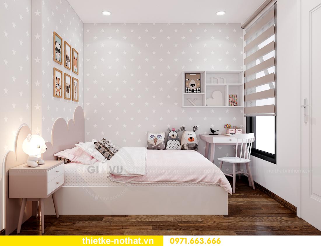 thiết kế nội thất căn hộ 2 phòng ngủ tại Vinhomes Smart City 9