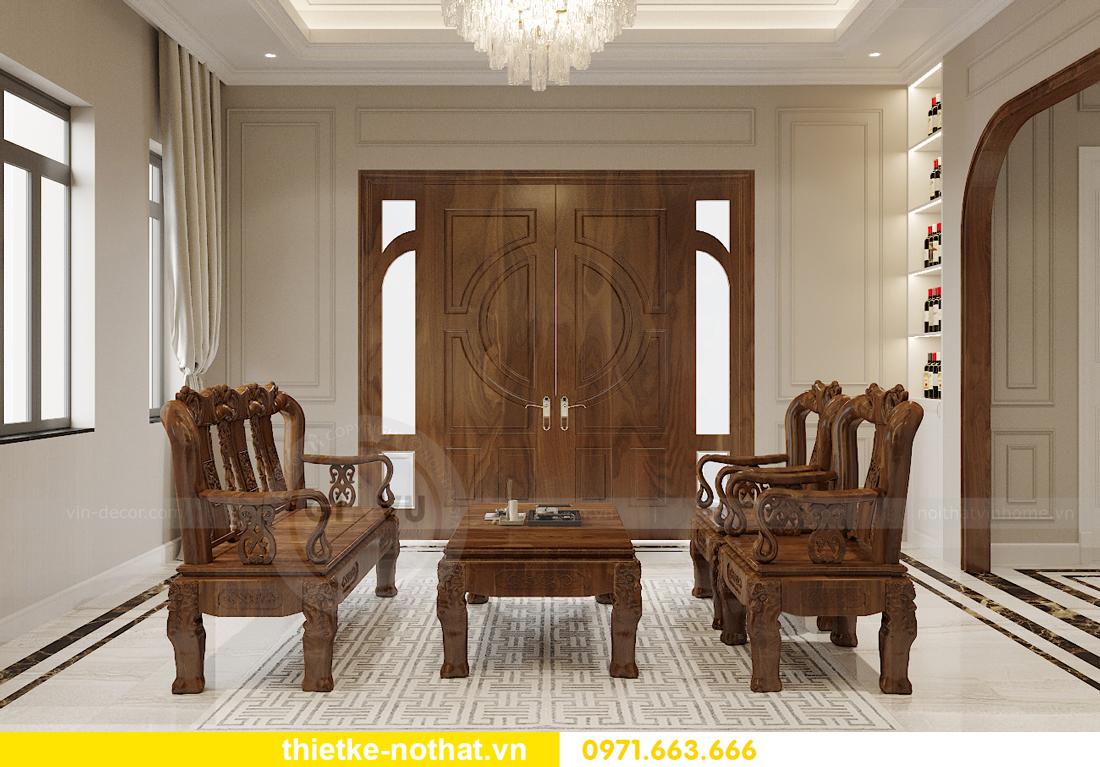 thiết kế nội thất biệt thự đẹp nhà anh Sơn Hải Phòng 1