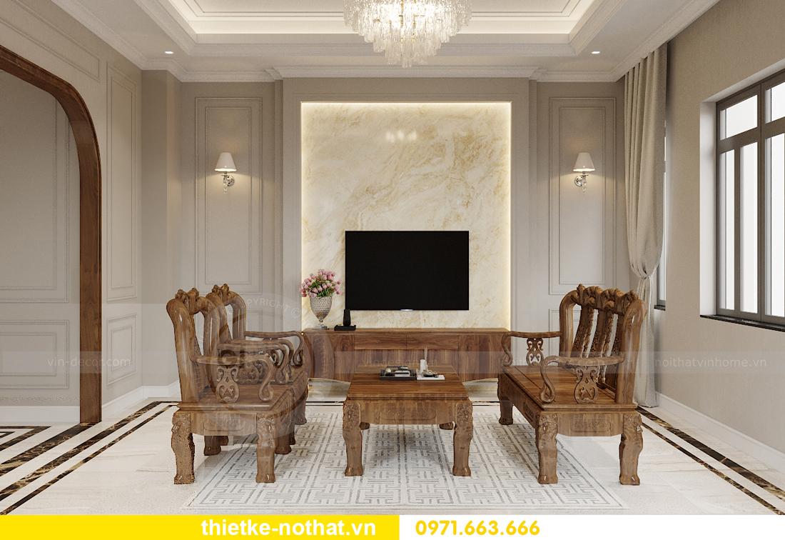thiết kế nội thất biệt thự đẹp nhà anh Sơn Hải Phòng 2