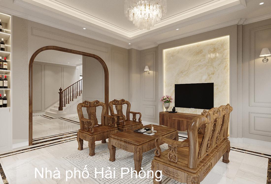 Thiết kế nội thất biệt thự đẹp nhà anh Sơn Hải Phòng
