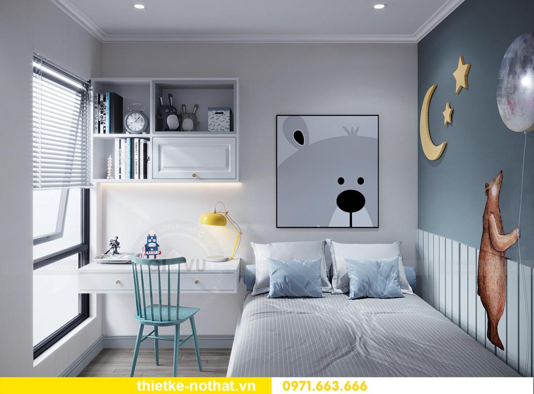 thiết kế nội thất căn hộ chung cư Smart City nhà anh Vũ 10