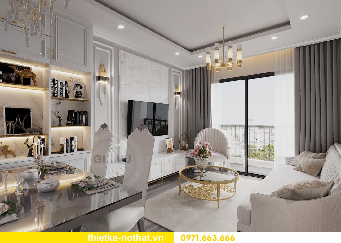 thiết kế nội thất căn hộ chung cư Smart City nhà anh Vũ 3