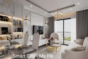 Thiết Kế Nội Thất Căn Hộ Chung Cư Smart City Nhà Anh Vũ