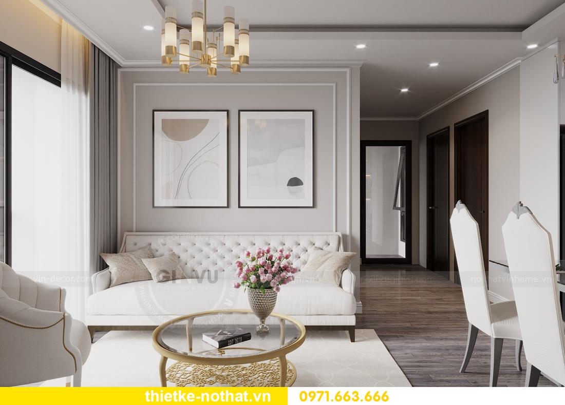 thiết kế nội thất căn hộ chung cư Smart City nhà anh Vũ 4