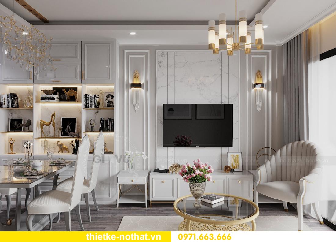 thiết kế nội thất căn hộ chung cư Smart City nhà anh Vũ 5