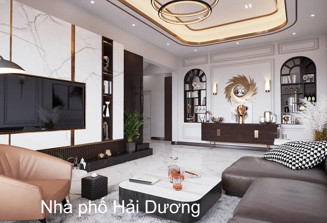 Thiết kế thi công nội thất nhà phố tại Hải Dương – chị Trinh