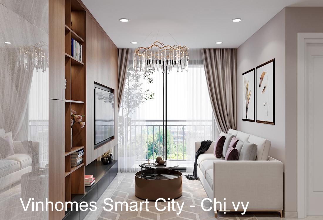 Thiết kế thi công nội thất Smart City tòa S202 căn 17 chị Vy
