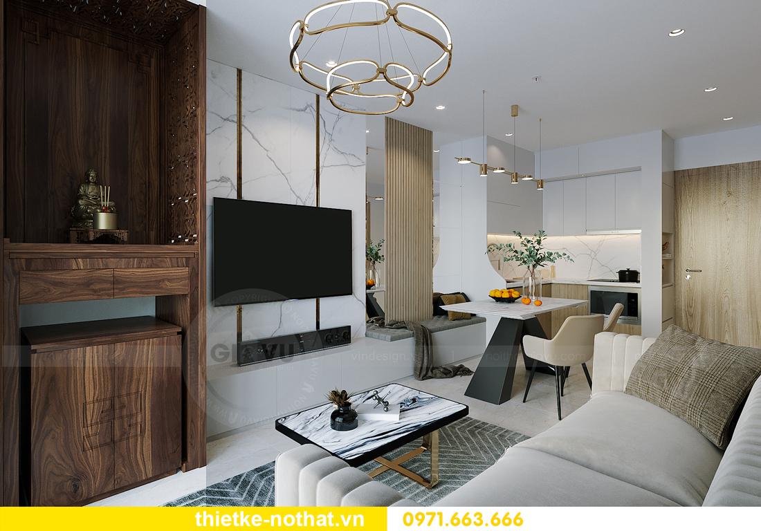 thiết kế nội thất chung cư Vinhomes Smart City tòa S201 căn 2903 3